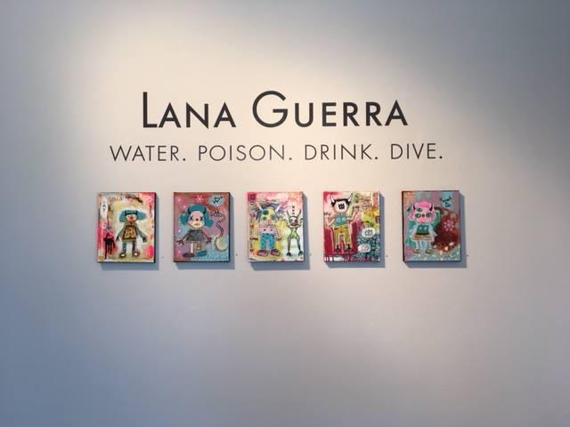 Lana Guerra gallery wall vinyl lettering