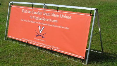 Example of a banner with professional installation