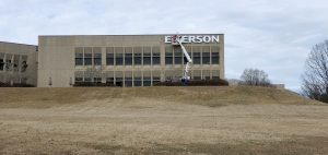 Emerson Sign Installation
